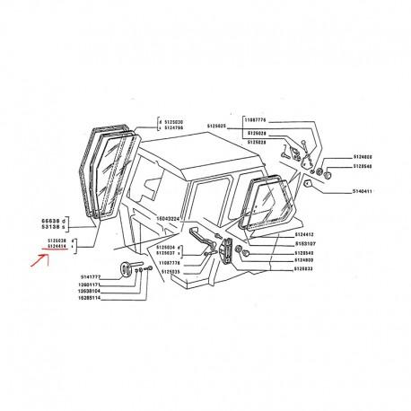 Vetro Portiera Cabina Sinistro 5124414