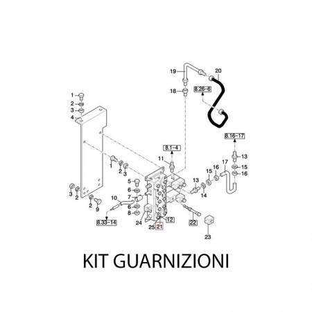 Kit Guarnizioni Valvola Idraulica Per Sistema Autolivellante 84037715