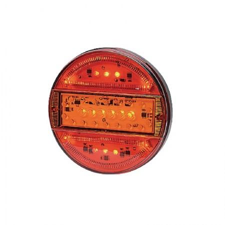 Luce Posteriore Multifunzione Rotonda, LED 12-24V