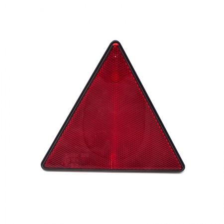 Catarifrangente Triangolare Rosso con Viti M6
