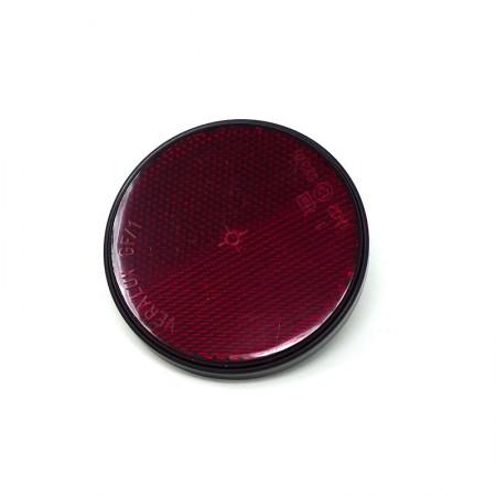 Catarifrangente Rosso Ø 60 mm con Vite M5