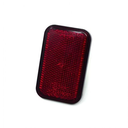 Catarifrangente Rettangolare Rosso 98x62 mm con Vite M6
