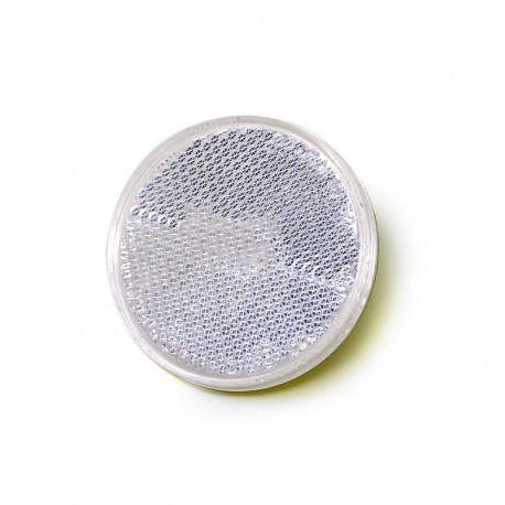Catarifrangente Bianco Ø 60 mm Adesivo