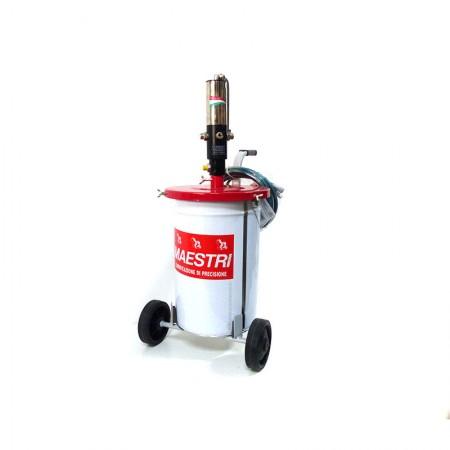 Aeropulsometro per Grasso e Tubazioni 8 Atm-120 Psi Maestri 366/C + Carrello