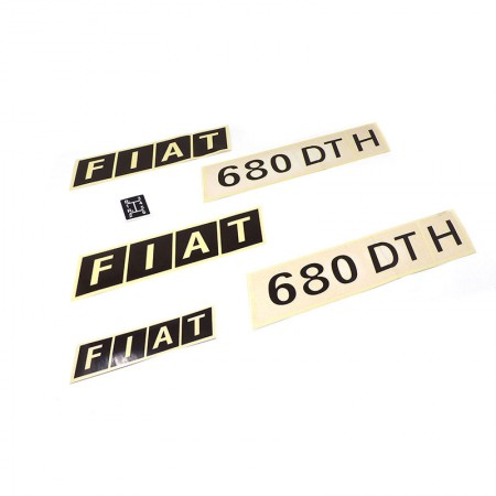 Adesivi Decalcomanie Trattore Fiat 680DTH