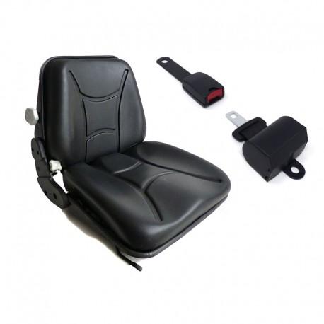 Sedile con Molleggio + Cintura con arrotolatore per Trattore,Cingolato,Carrello Elevatore