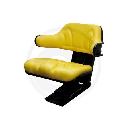 Sedile per Trattore Granit con Molleggio in PVC Giallo John Deere 24000029